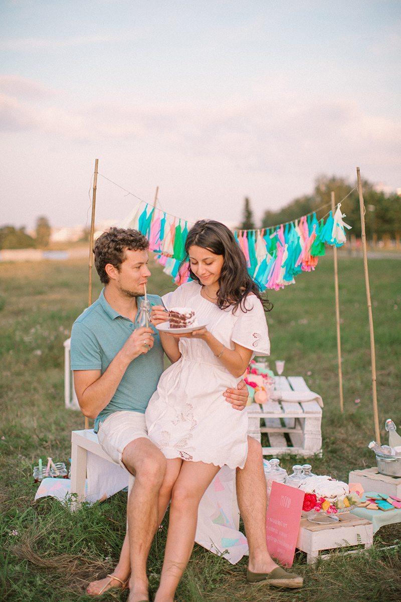 Красочная геометрия: love-story Паши и Кристины