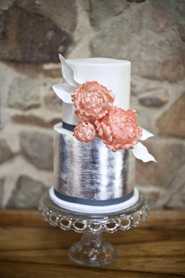 Cvet svadby serebro - tort (32)