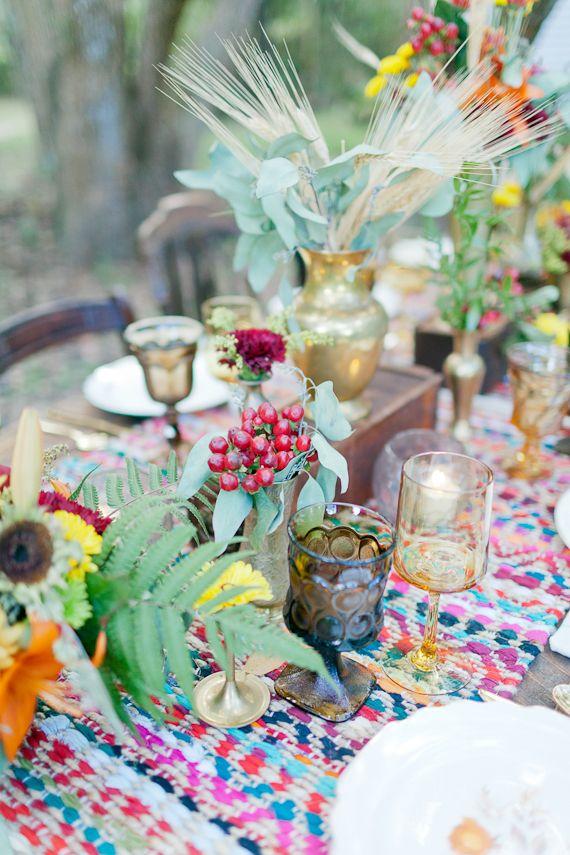 Stil svadby boho - dekor (130)