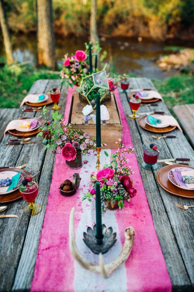 Stil svadby boho - dekor (135)