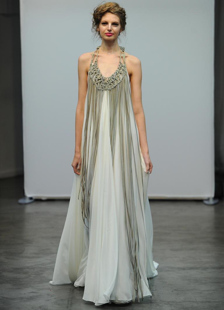 9 лучших бохо платьев с подиумов Bridal Fashion Week 2016