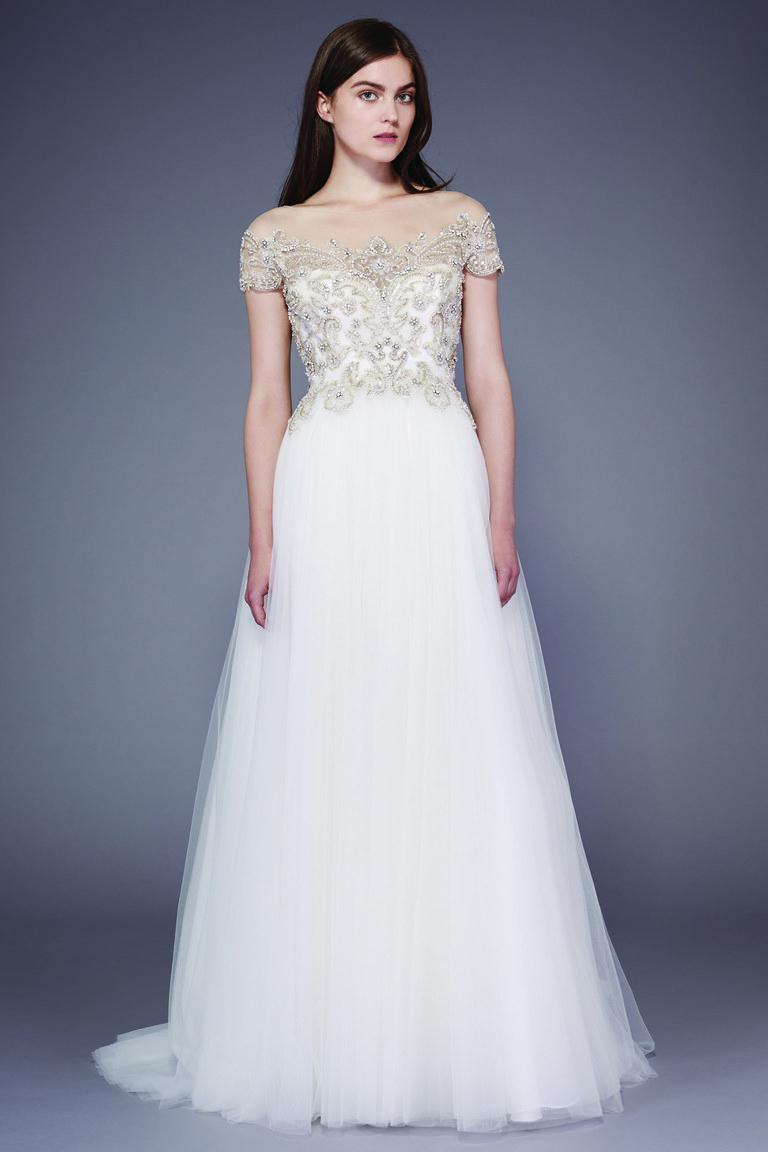 Коллекция свадебных платьев Badgley Mischka осень 2016
