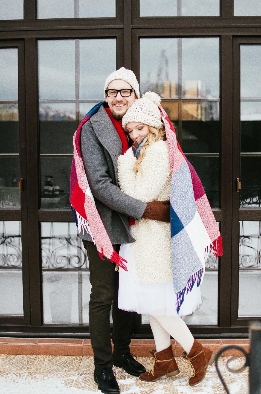 Русская зима: стилизованная фотосессия Стаса и Лены