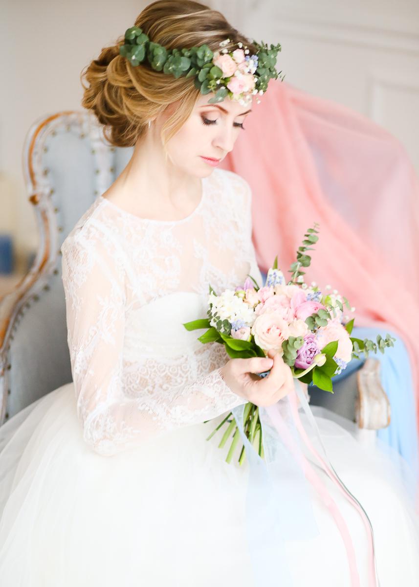 Весенние нимфы: стилизованная фотосессия утра невесты