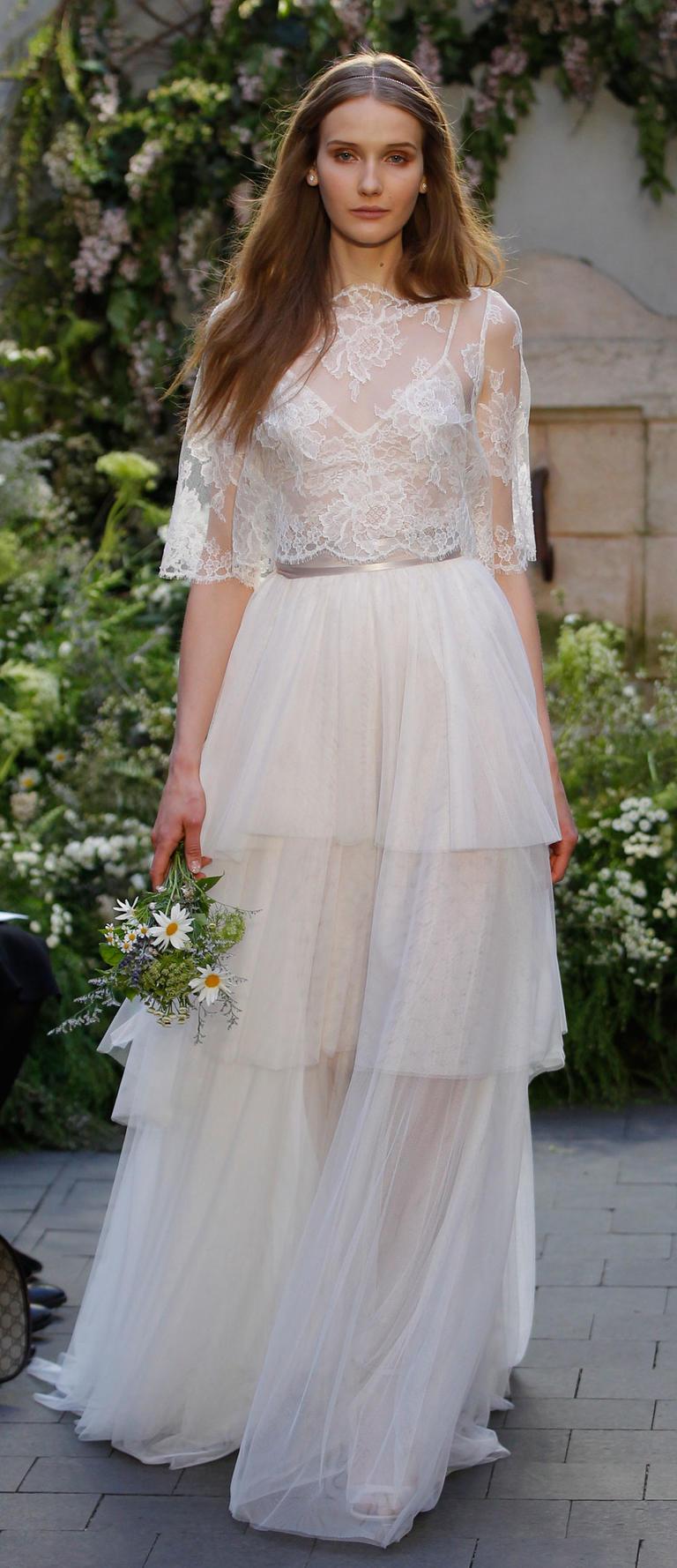 Коллекция свадебных платьев Monique Lhuillier весна 2017