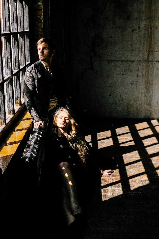 Легкое перышко: стилизованная фотосессия Кристины и Димы