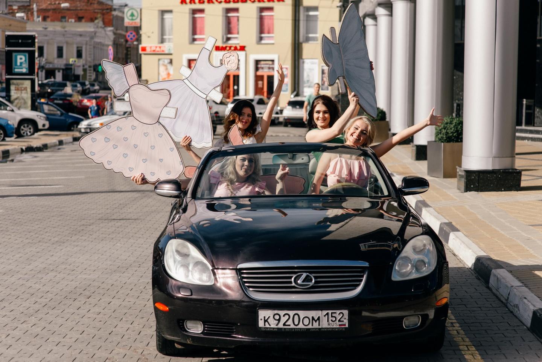 Бумажная вечеринка: фотосессия девичника Анастасии