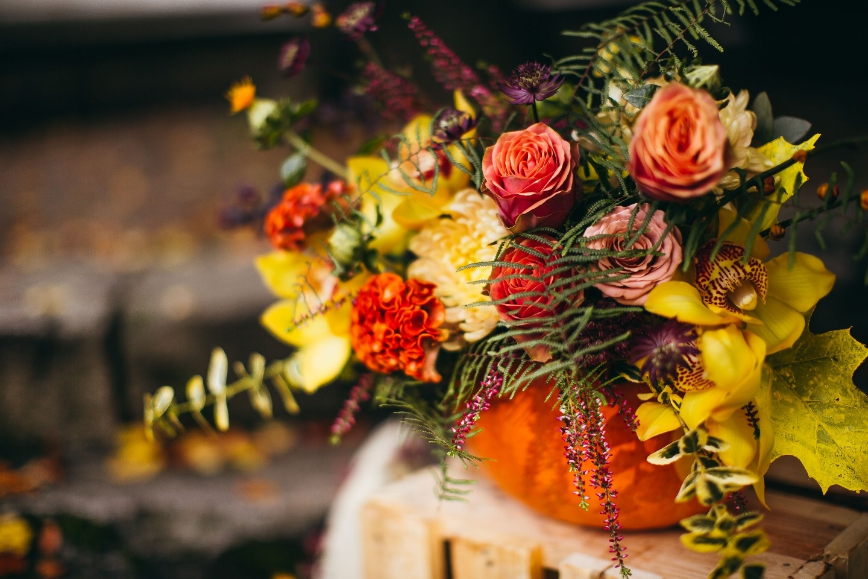 Цвет осени: стилизованная фотосессия Алины и Олега