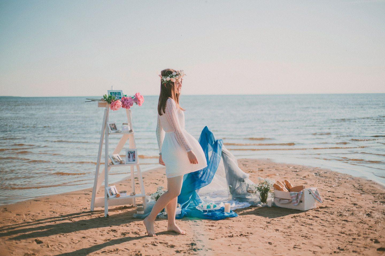 Девичник на берегу озера: стилизованная фотосессия